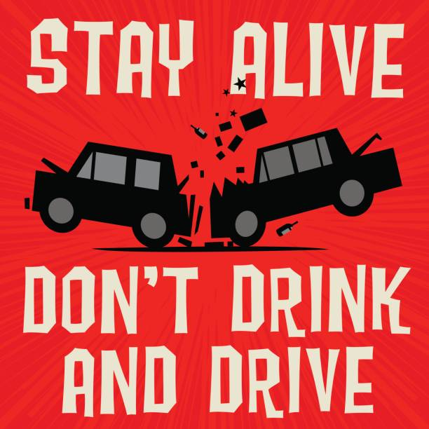 Best Drunk Driving Illustrations, Royalty.
