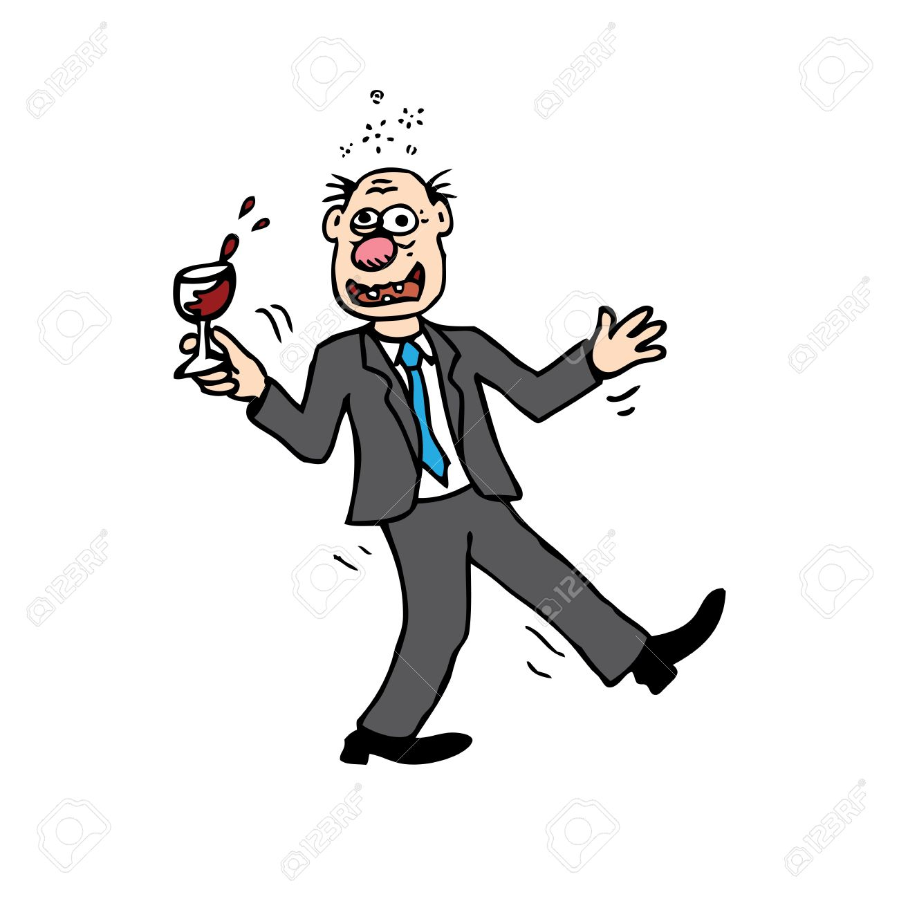 Showing post & media for Cartoon drunk person clip art.