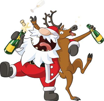 clipart drunk santa - Clipground