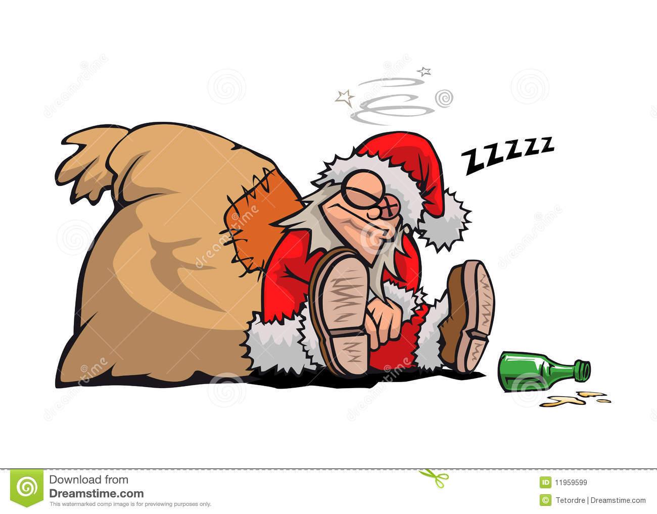 clipart drunk santa #9