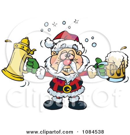 clipart drunk santa #5