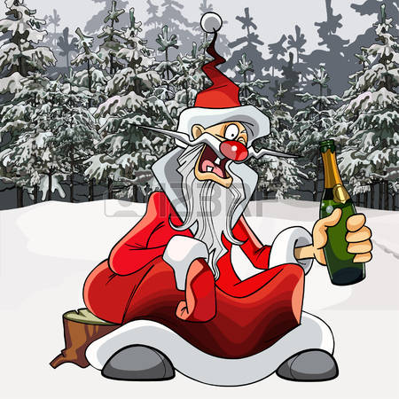 clipart drunk santa Clipground