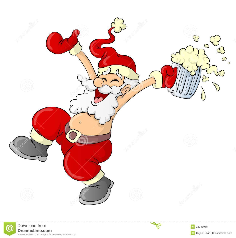 clipart drunk santa #15