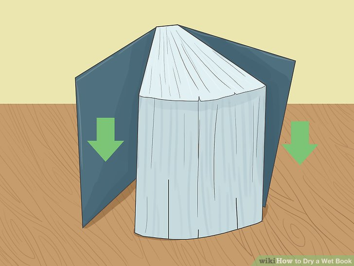 4 Ways to Dry a Wet Book.