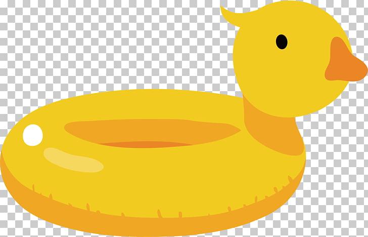 Duck Cartoon Illustration, Duck swim ring PNG clipart.
