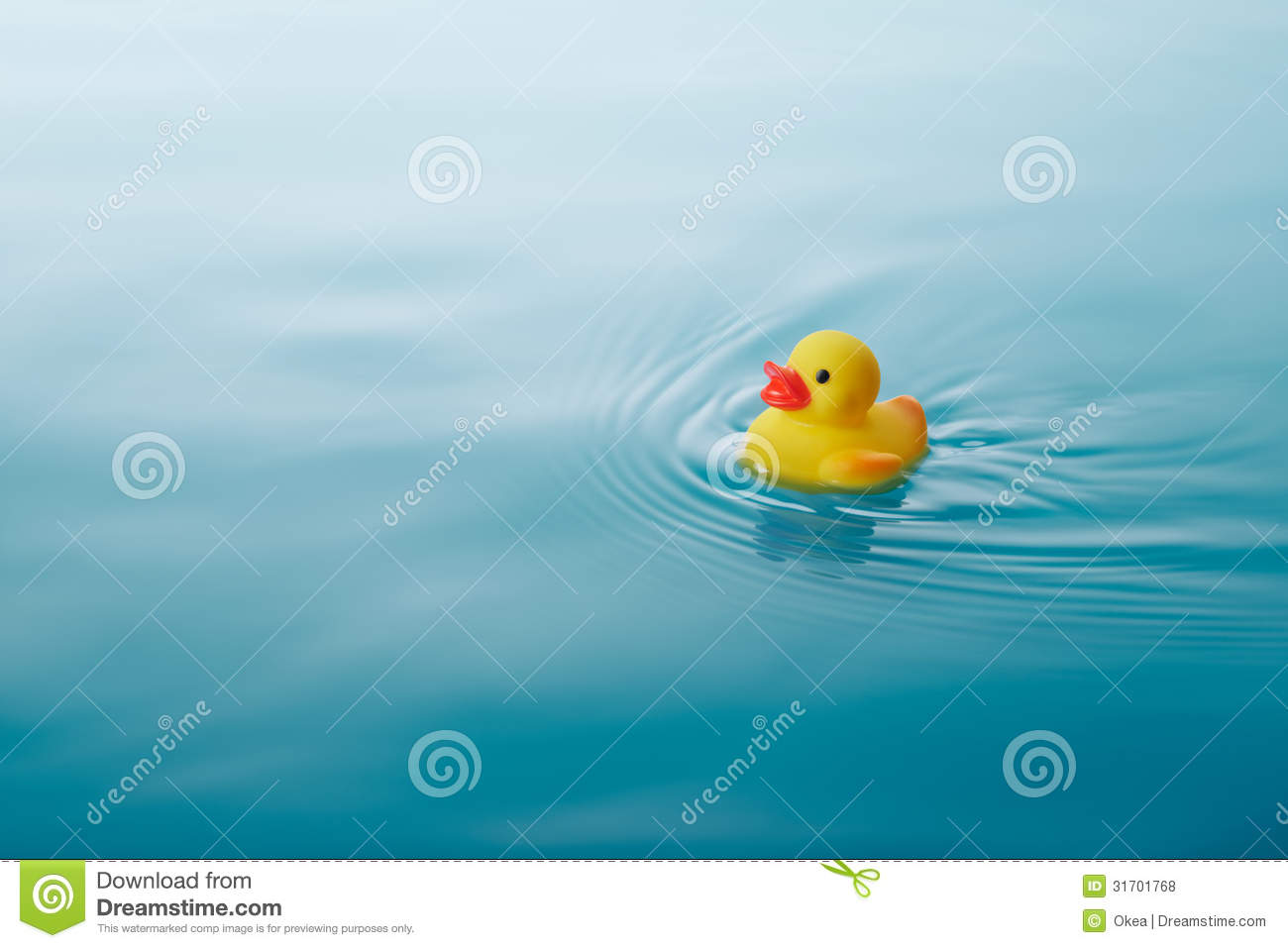 Yellow Rubber Duck In Bath Stock Image.
