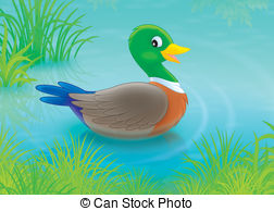 Duck pond Illustrations and Clipart. 633 Duck pond royalty free.
