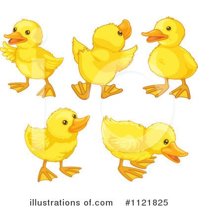 Cute Duck Clip Art.