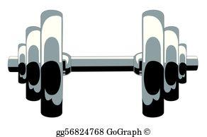 Dumbbell Clip Art.