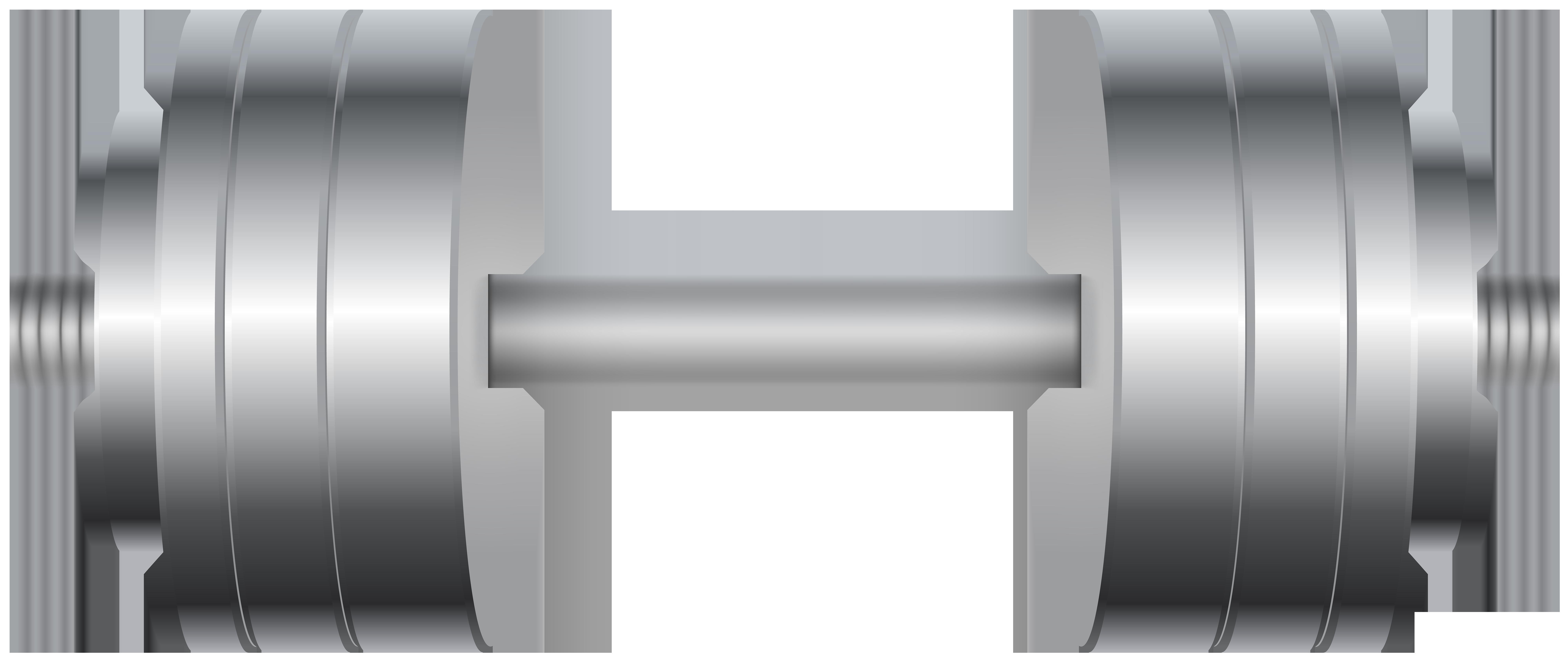 Gym Dumbbell PNG Clip Art Image.