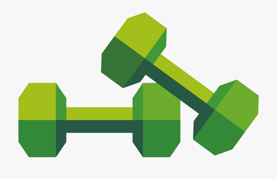 Green Dumbbell Clipart , Png Download.