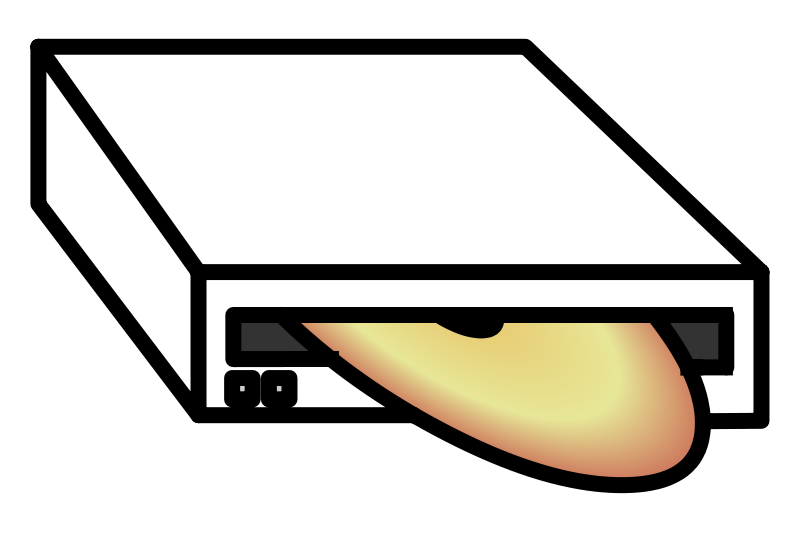 Free Clipart: DVD Drive.