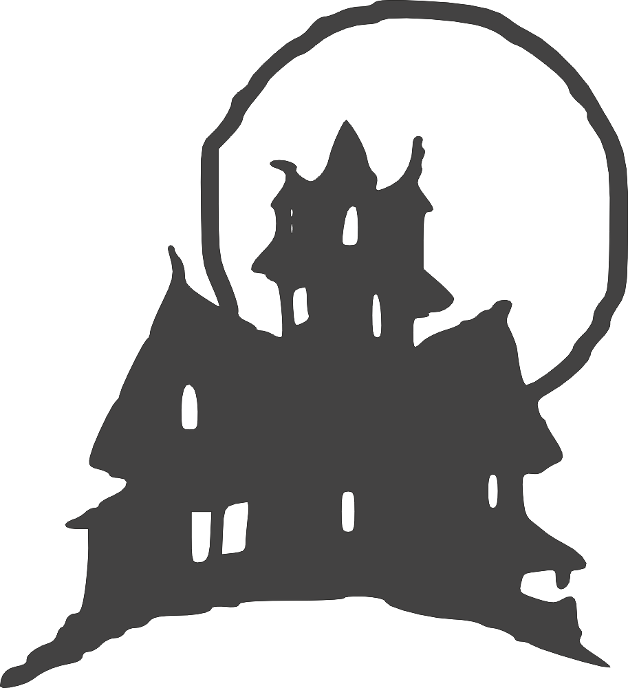 Halloween Clipart Castle DXF File Free Download.