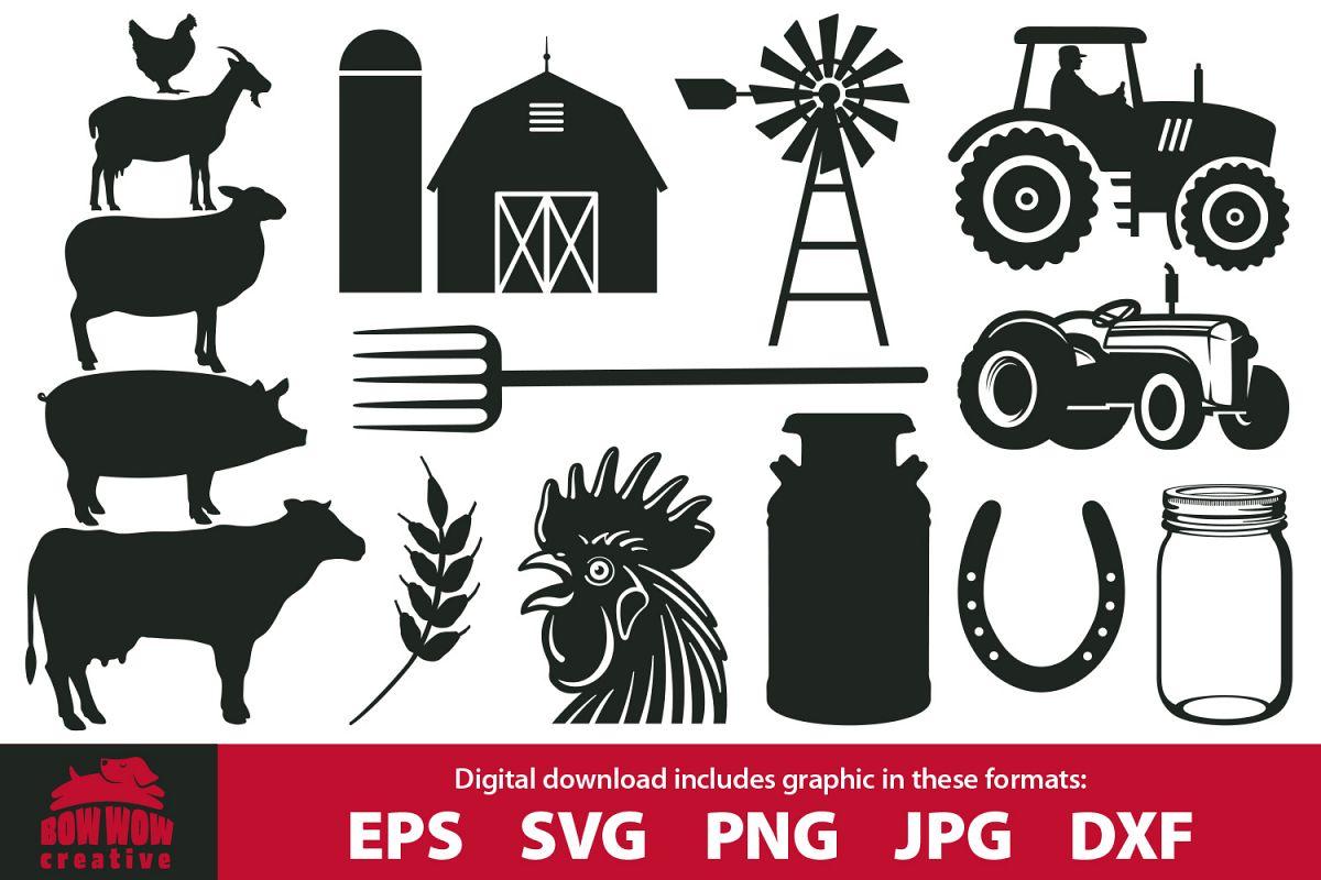 Farm graphics clipart bundle.