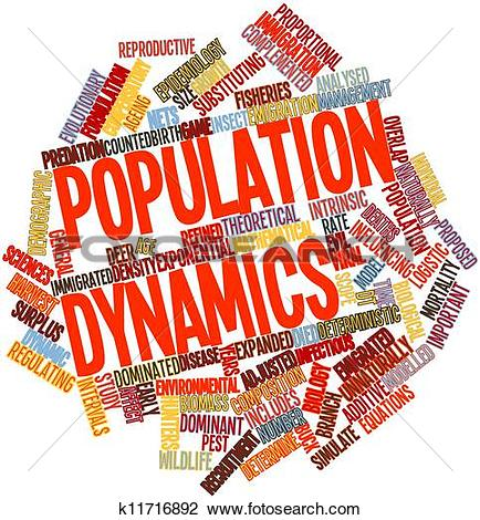 Clip Art of Population dynamics k11716892.