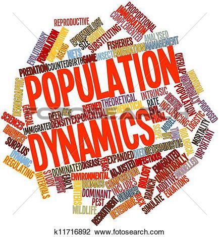 Clip Art of Population dynamics k11716892.