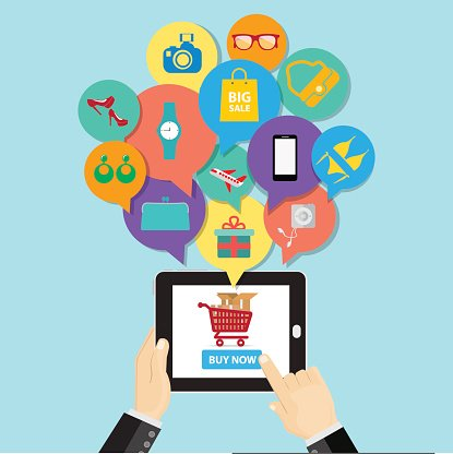 Online Shopping E Commerce Business Button Order Item premium.