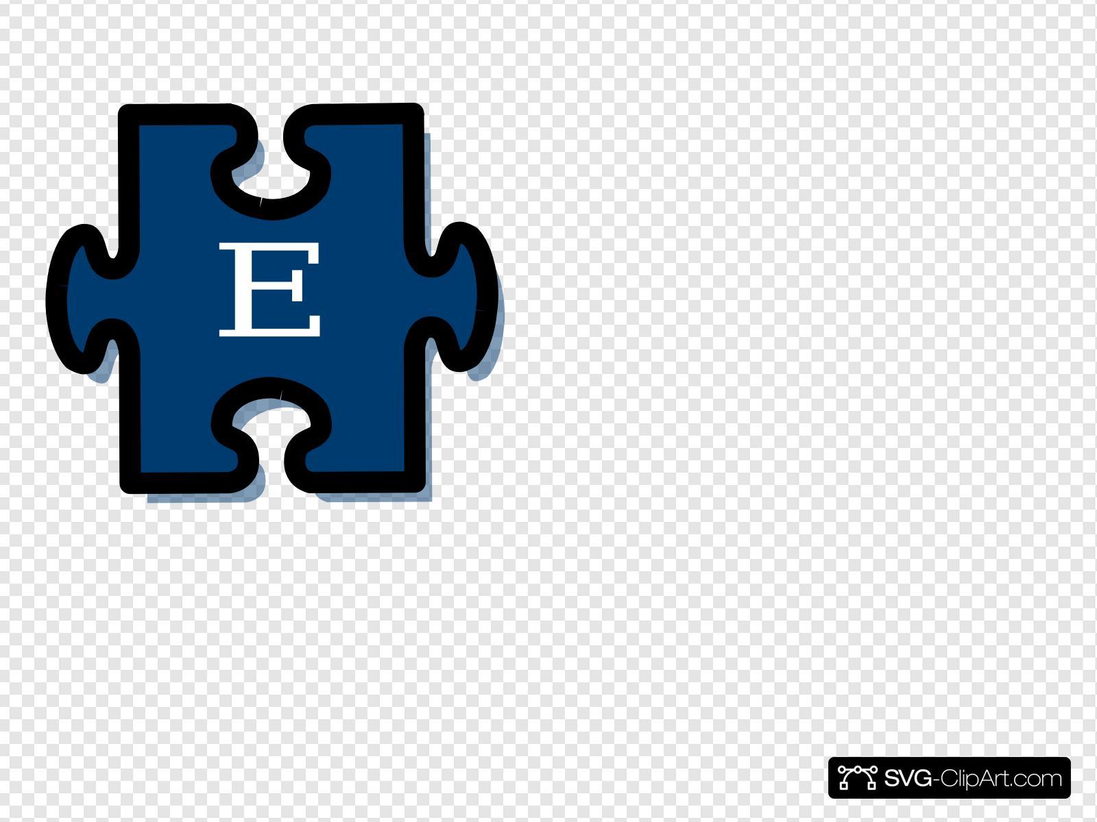 Puzzle E Clip art, Icon and SVG.
