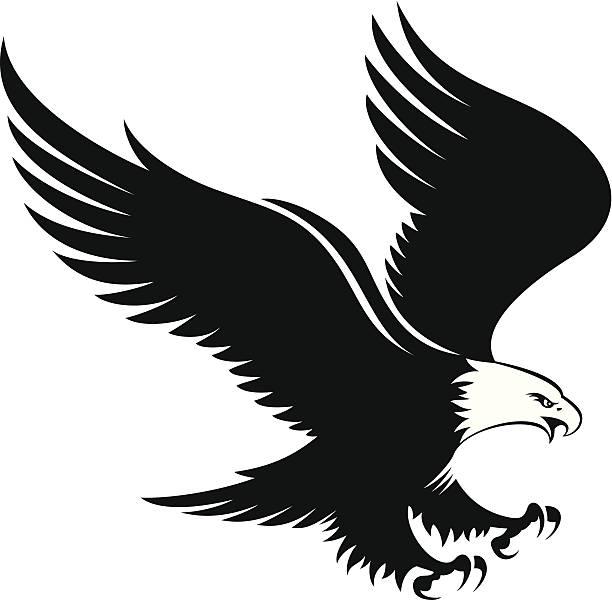 Landing Eagle Clipart.