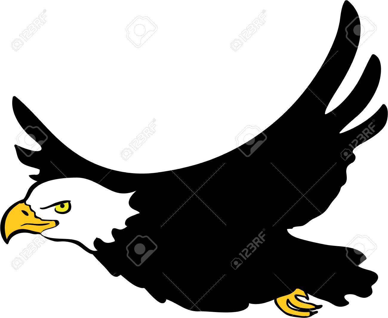 Eagle Flying Clipart.