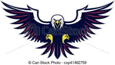 Flying eagle mascot.