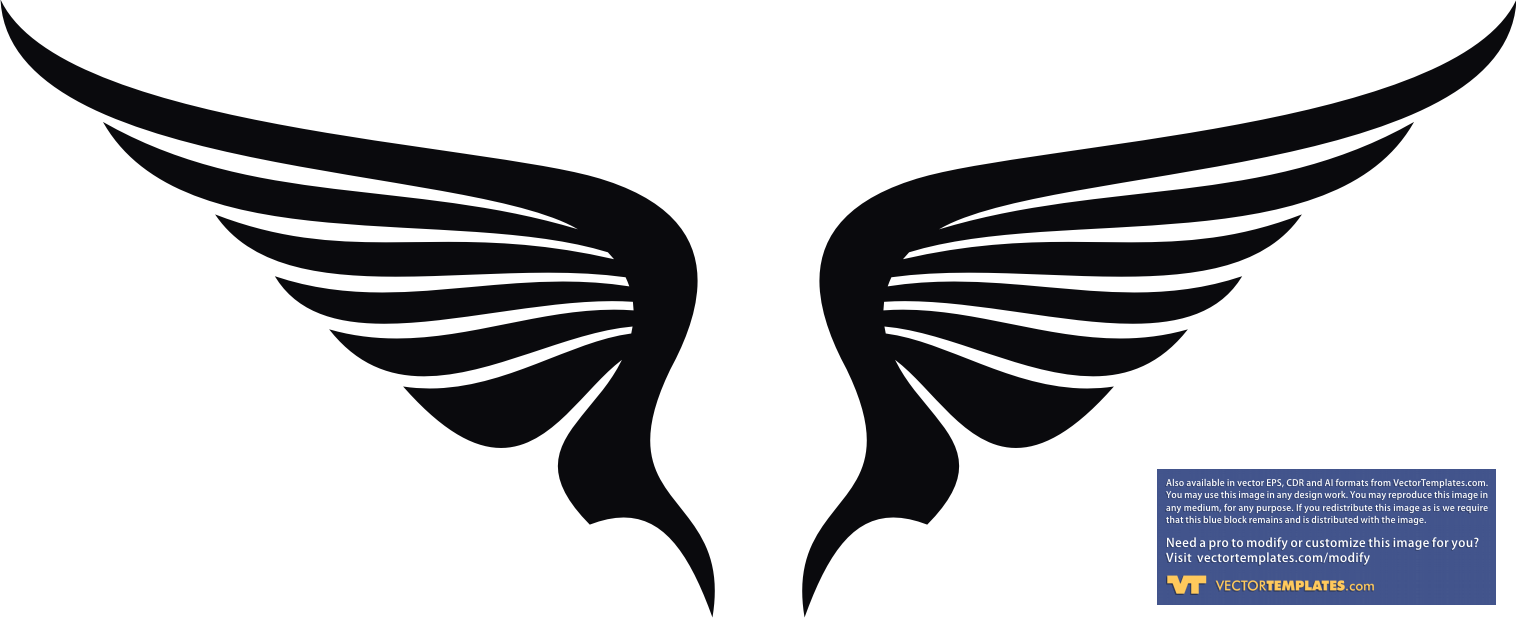 Eagle Wings Logo Clipart.