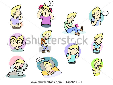 Child Earache Stock Images, Royalty.