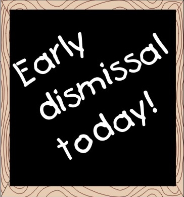 Early Dismissal Clipart.