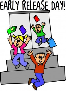 Early Release School Day Clipart.