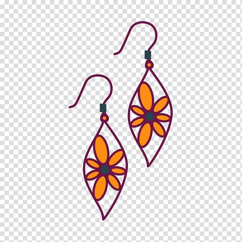 Earring Drawing , earring transparent background PNG clipart.
