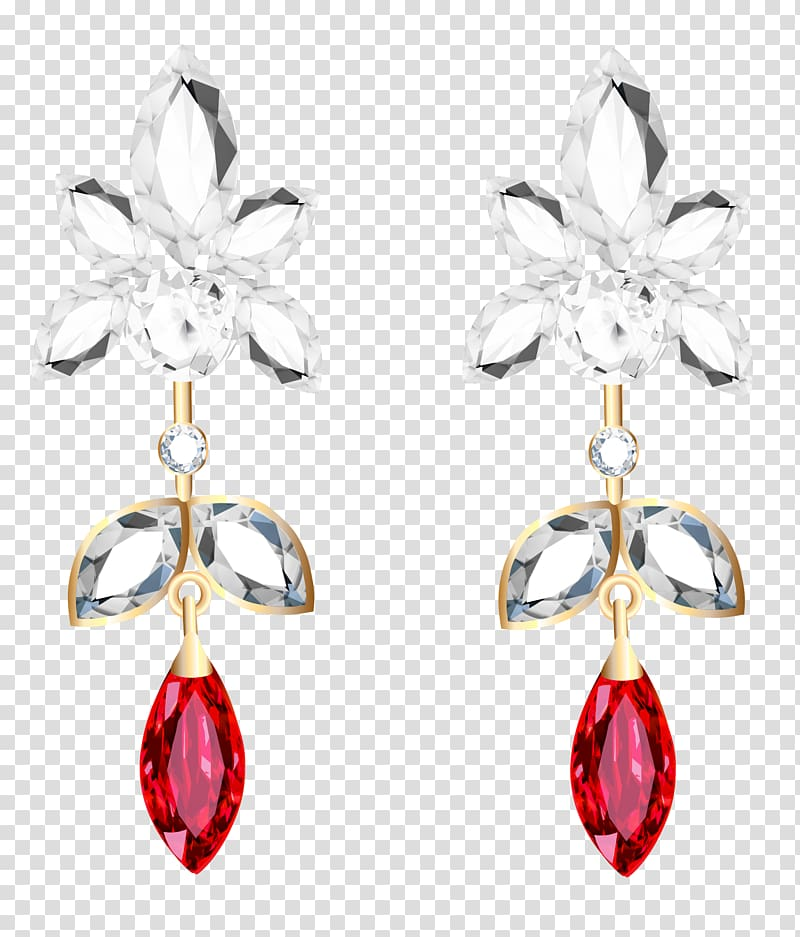 Earring Jewellery Diamond , earring transparent background.