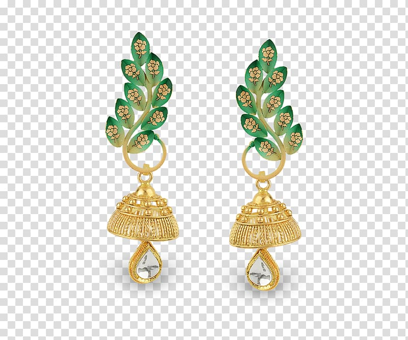 Earring Emerald Jewellery Gold Jewelry design, emerald.