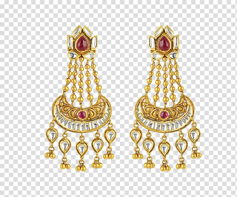 Earring Gold Jewellery Jewelry design Kundan, Jewellery.