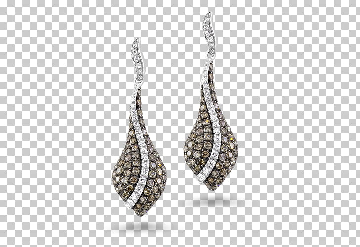 Earring, design PNG clipart.