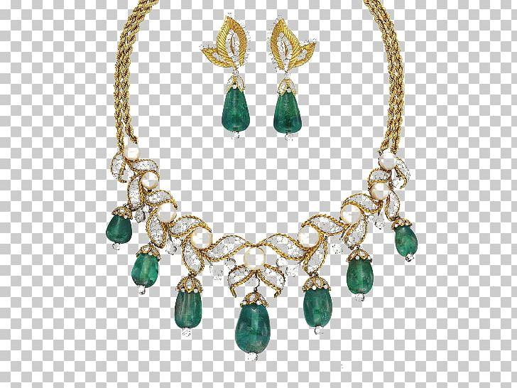 Emerald Jewellery Earring Necklace Jewelry Design PNG.