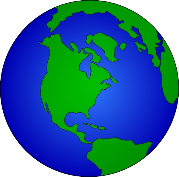 Earth Globe clip art Free vector in Open office drawing svg.