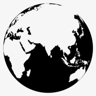Free Earth Black And White Clip Art with No Background.