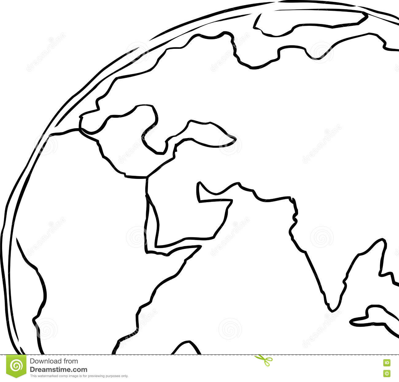 Earth Outline With Earth Clipart Outline : Earth Outline Outline.