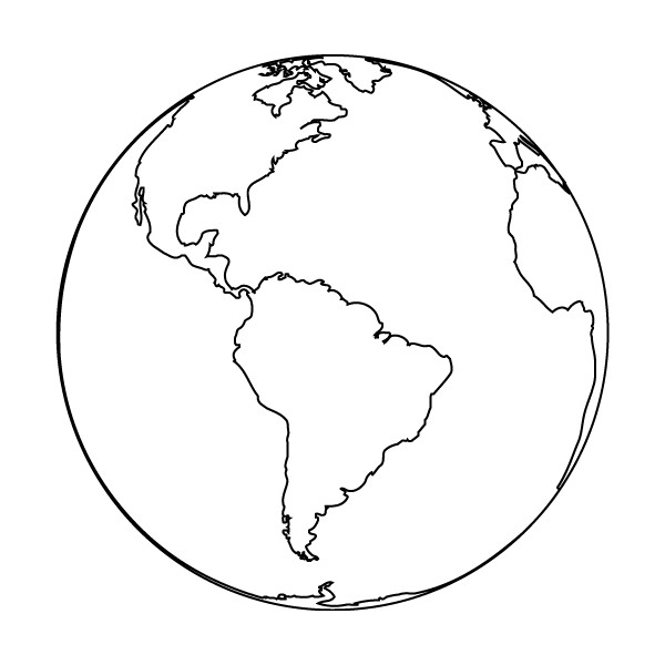 clipart earth outline