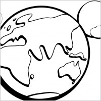 Globe Black And White Outline.