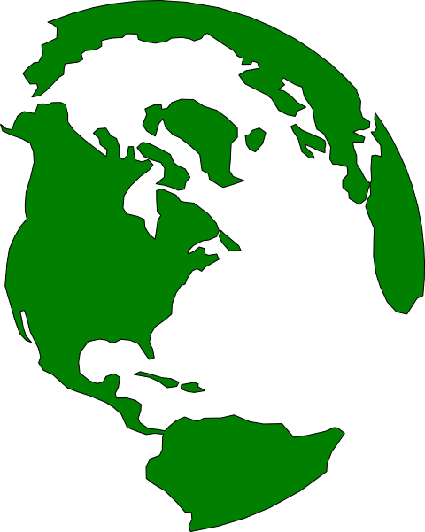 Earth Outline Clip Art at Clker.com.