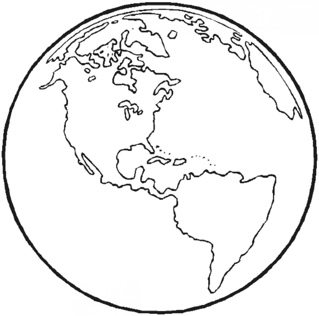 earth outline coloring page Archives ~ Free Printable Coloring.