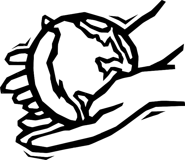 Black, Two, Outline, Globe, World, Earth, Hand, Drawing.