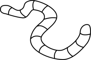 Earth Worm Outline Clip Art at Clker.com.
