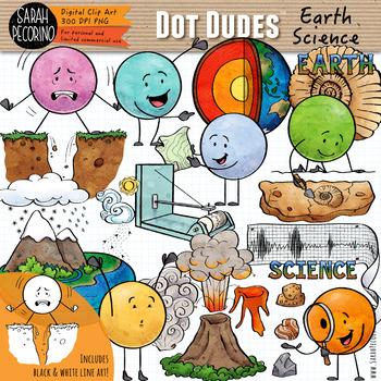 Dot Dudes Earth Science Clip Art.