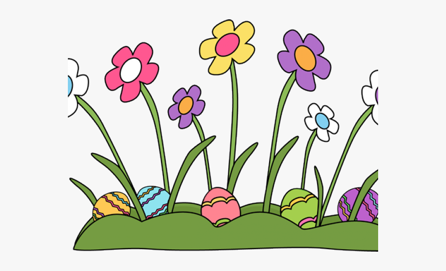 Easter Flowers Cliparts.