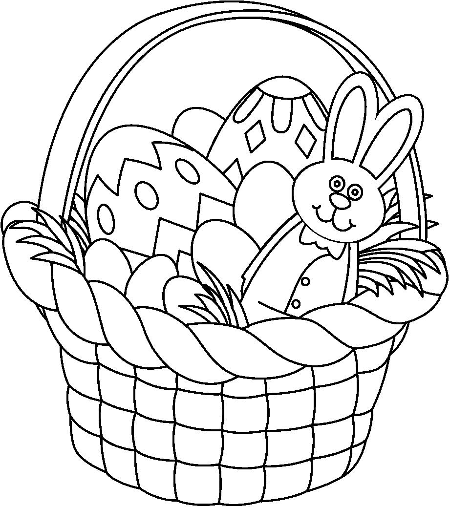 Easter Black And White Clipart.