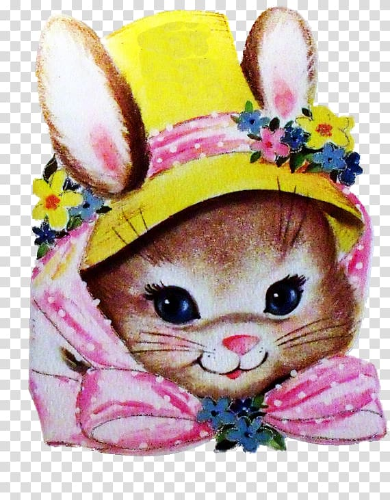 Easter Bunny Rabbit Greeting & Note Cards , Easter Bonnet.