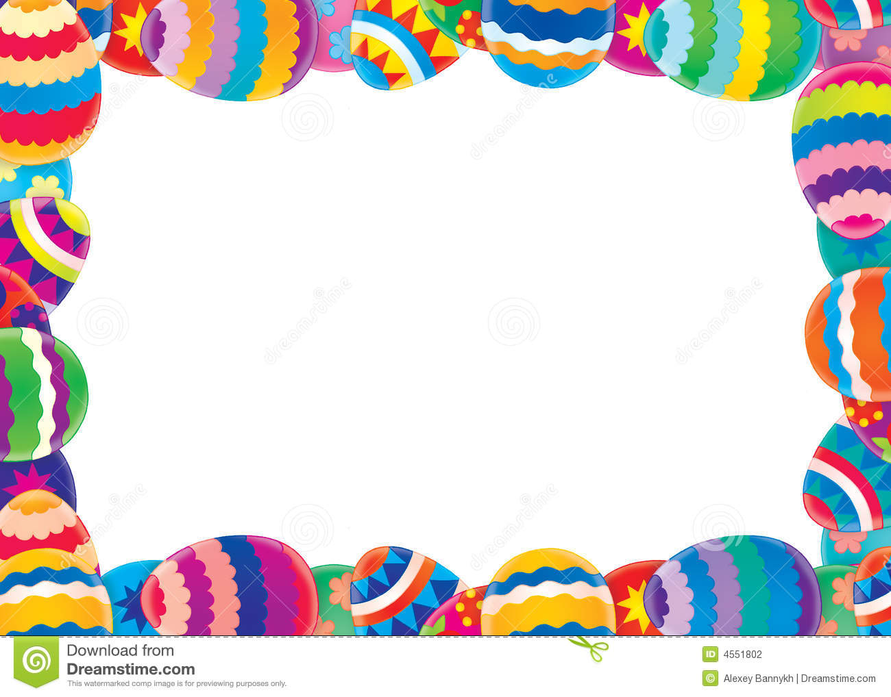 37 Easter Border free clipart.
