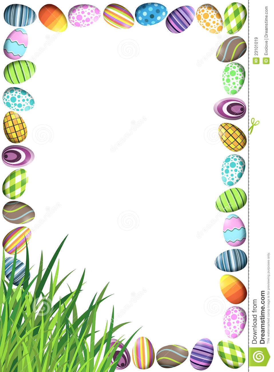 Easter Eggs Clipart Border.